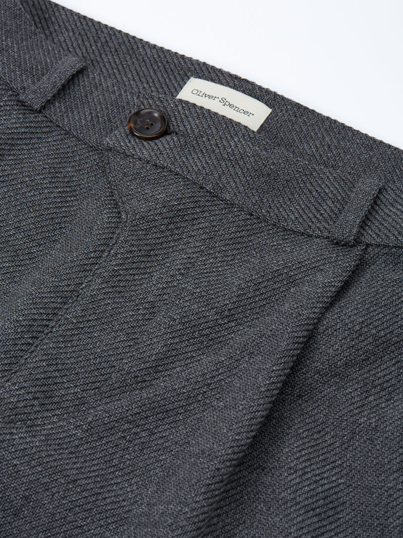 Pleat Trousers Buttress Charcoal