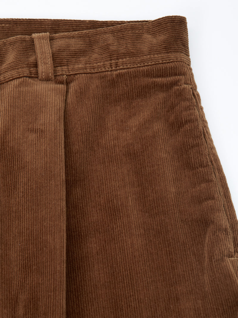 Pleat Trousers Penton Cord Ginger