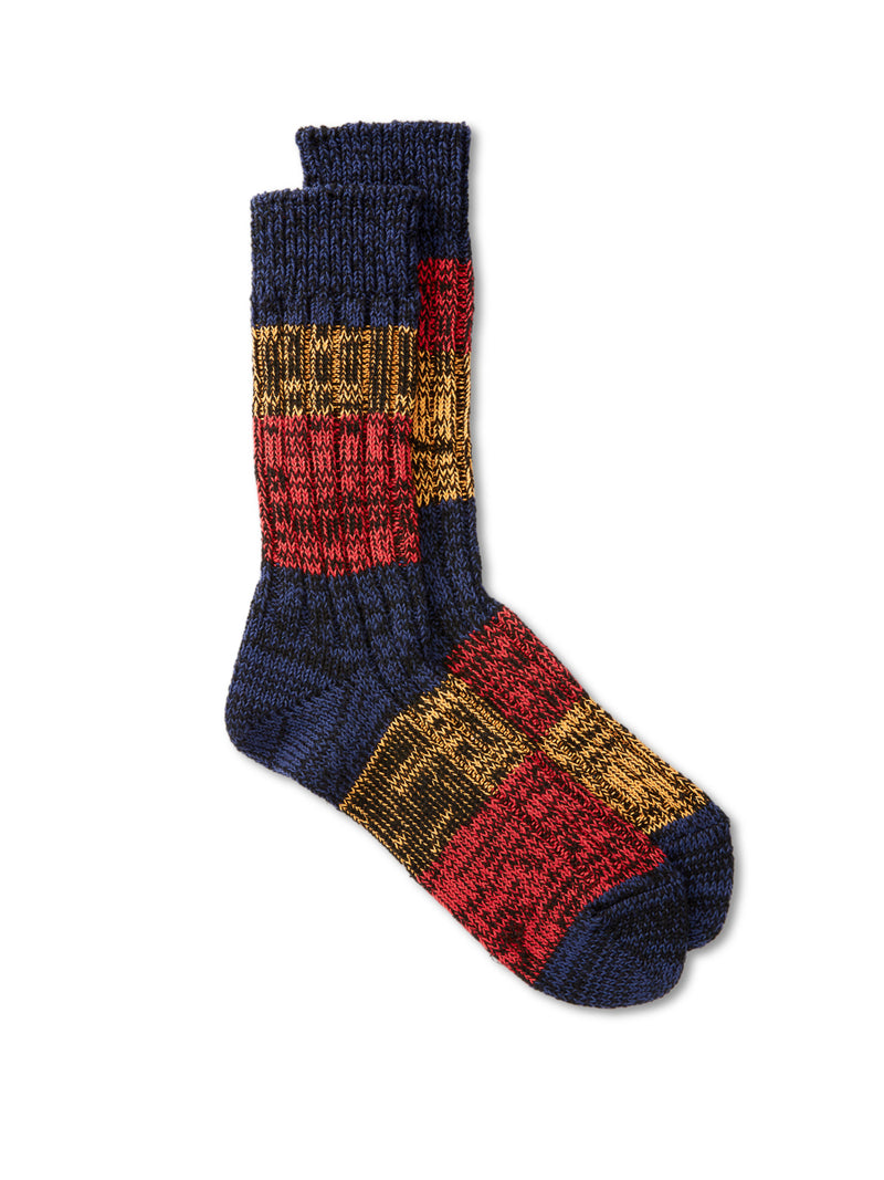 Ro To To Mixture Socks Blue/Red/Orange