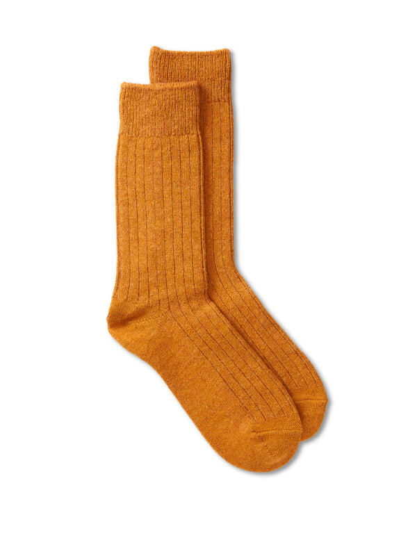 Ro To To Cotton Wool Rib Socks Gold
