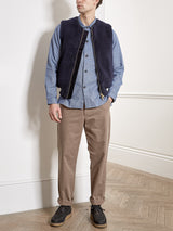 Hunston Gilet Fleece Navy