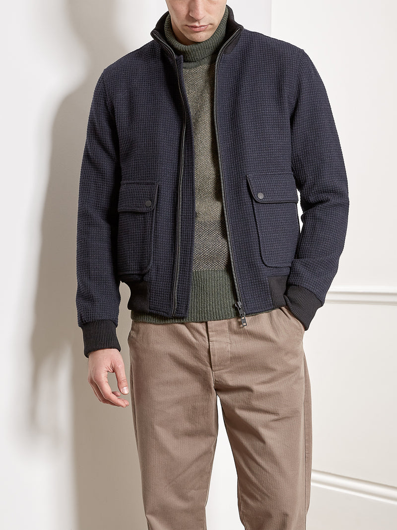 Funnel Neck Bomber Jacket Onslow Navy