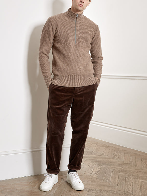 Half Zip Jumper Carew Sand
