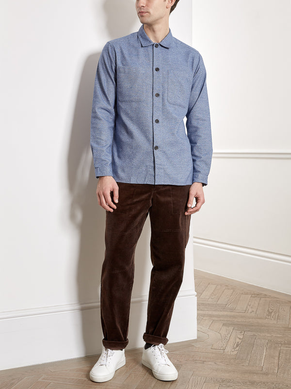 Eltham Overshirt Rutherford Blue