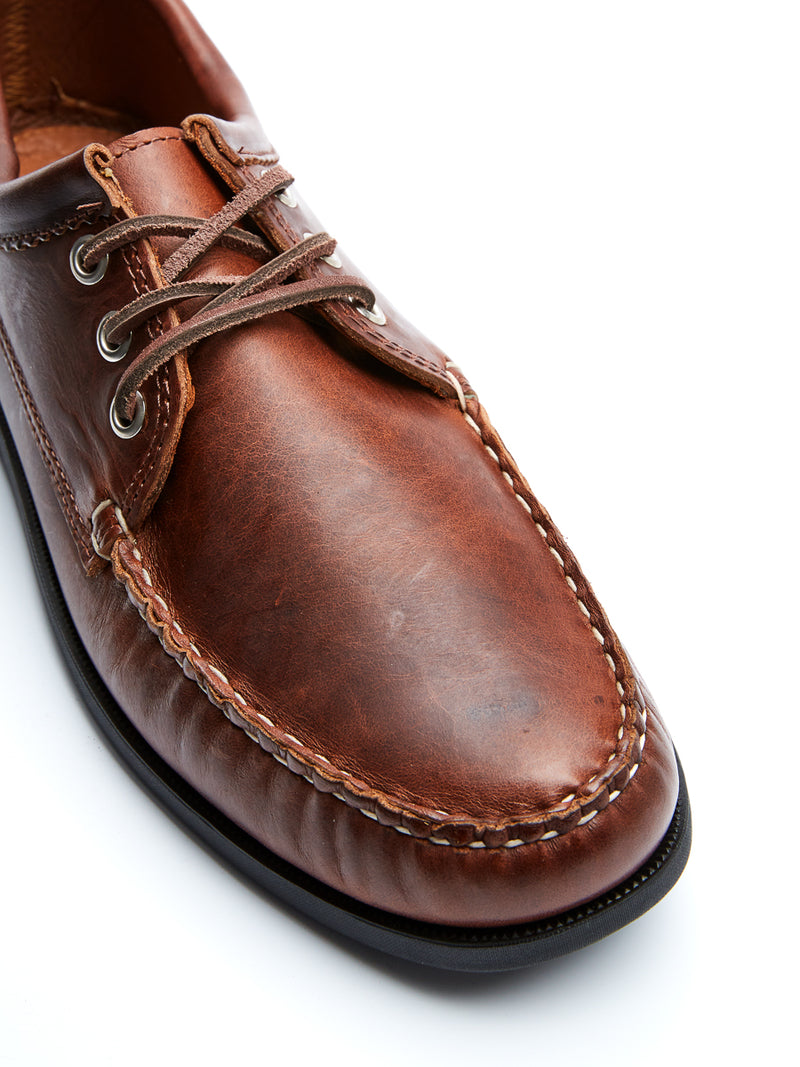 Quoddy Blucher Moccasin Brown Chromexcel Leather