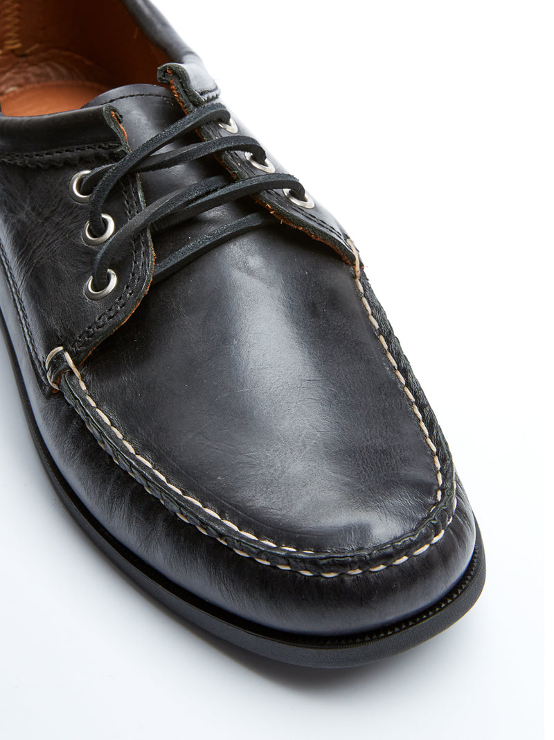 Quoddy Blucher Moccasin Black Chromexcel Leather