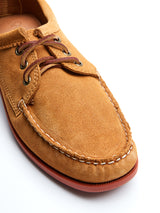 Quoddy Blucher Tan Suede