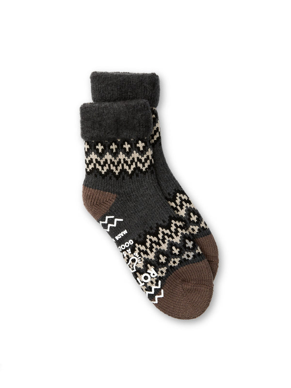 Ro To To Comfy Room Socks Nordic Charcoal