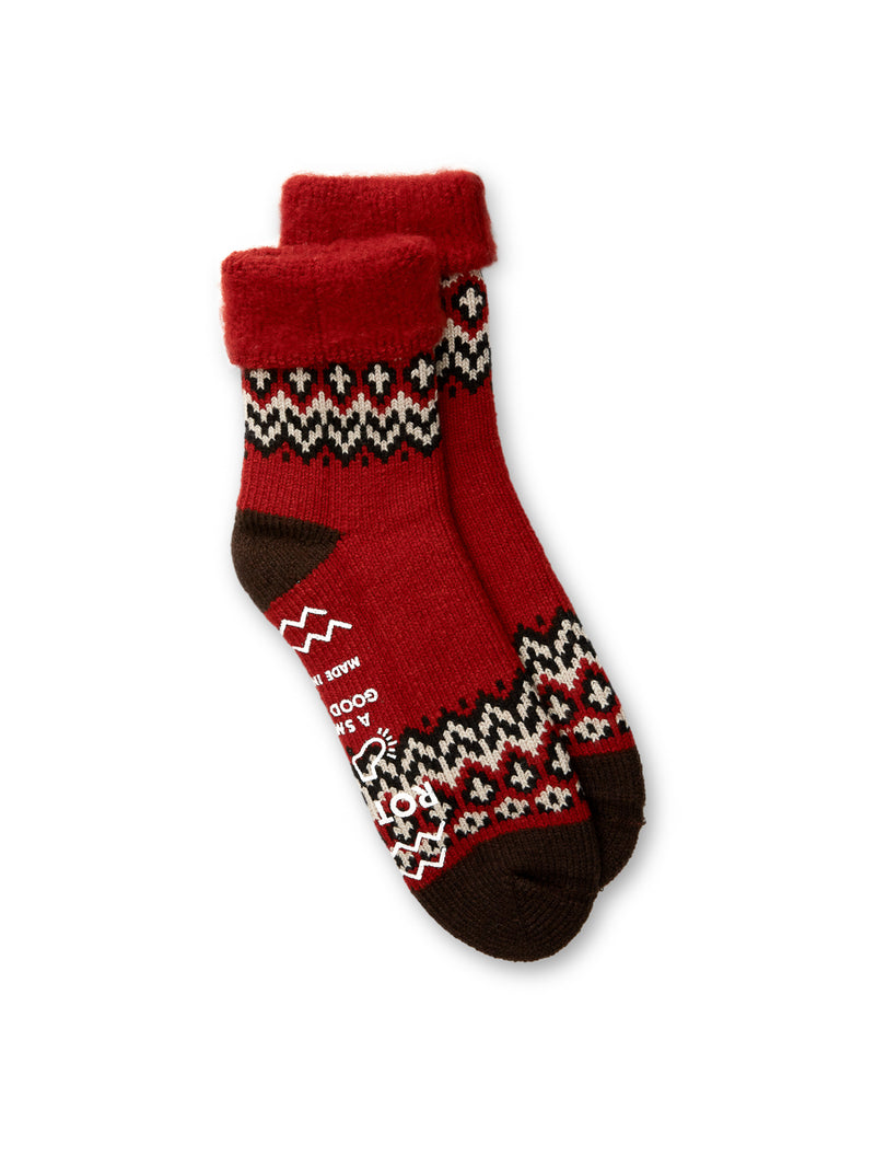 Ro To To Comfy Room Socks Nordic Red