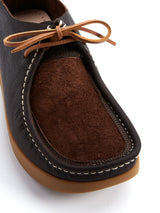Yogi Willard Dark Brown Suede Shoe