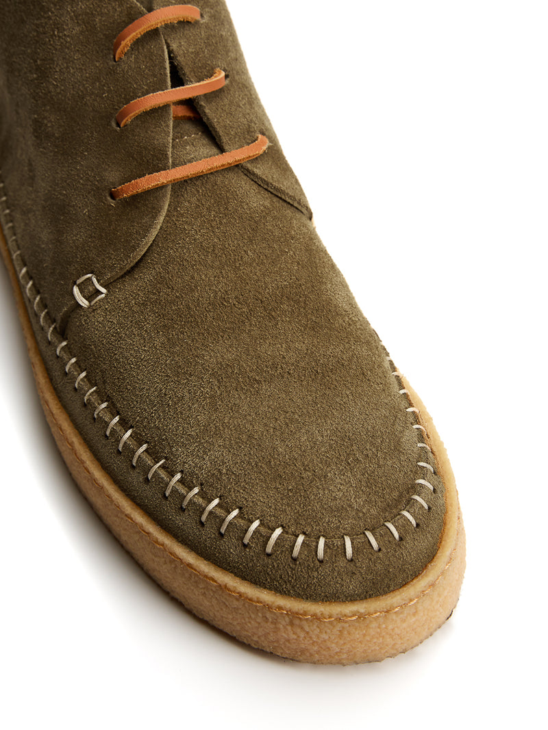 Yogi Moss Green Suede Hitch Boot