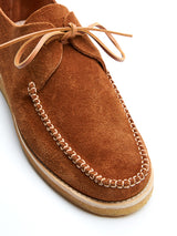 Yogi Lawson Nubuck Brown Moccasin Shoe
