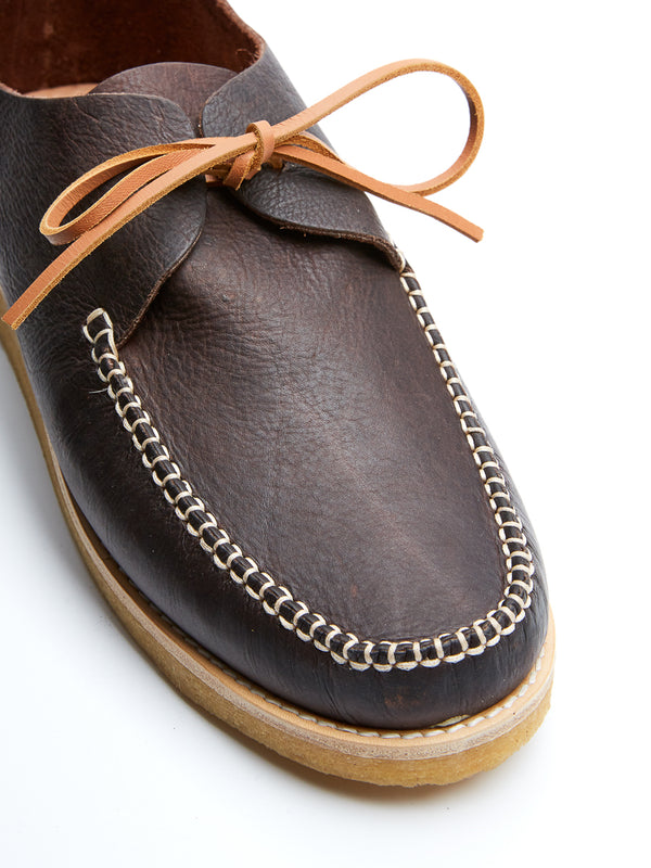 Yogi Lawson Dark Brown Leather Moccasin Shoe