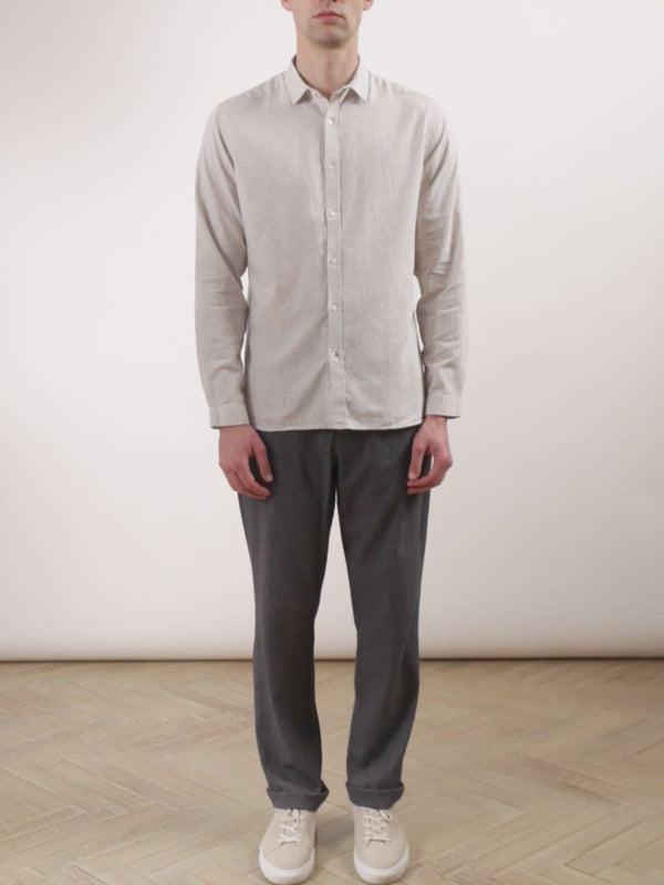 Clerkenwell Tab Shirt Colworth Cream