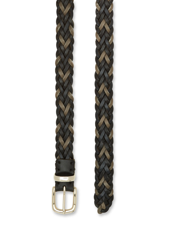 Braid Belt Leather Black Multi
