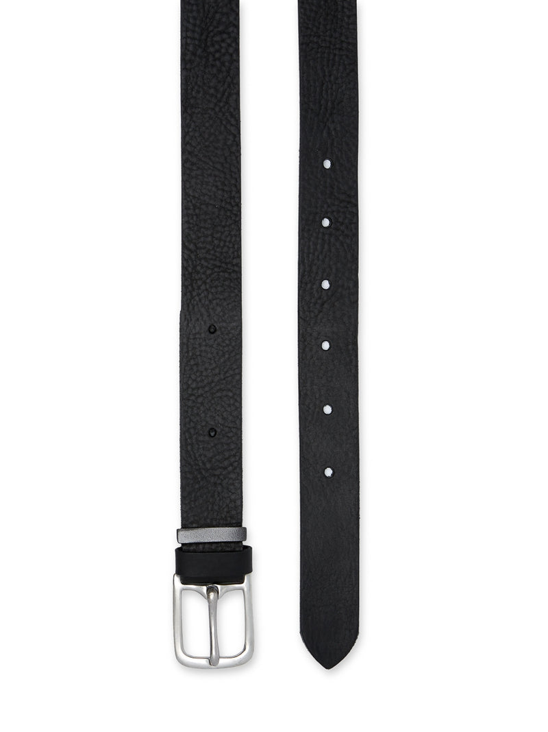 One Size Belt Pebble Leather Black