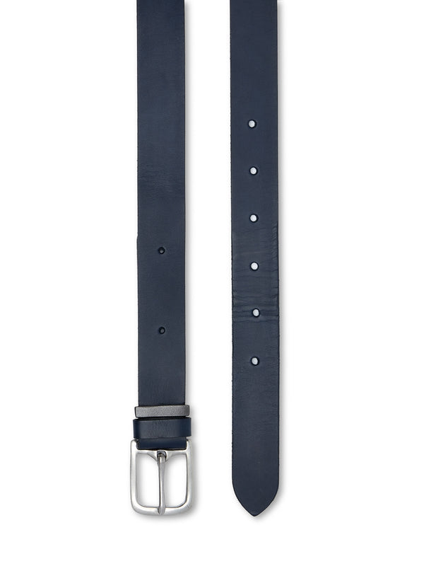 One Size Belt Leather Navy
