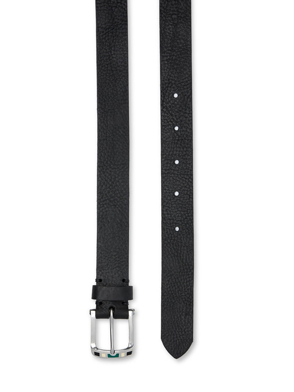 Barrow Belt Pebble Leather Black