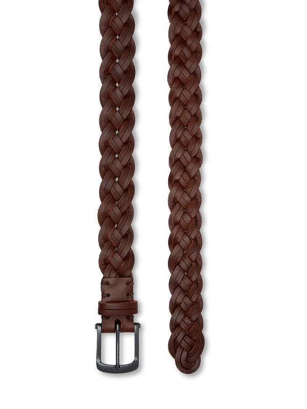 Weave Belt Leather Brown