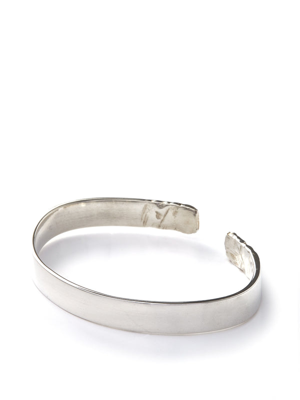 Bleue Burnham Bashed Ends Bangle Silver