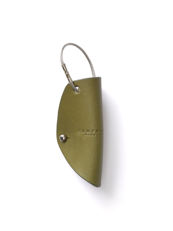Campbell Cole Khaki Leather Simple Key Wrap