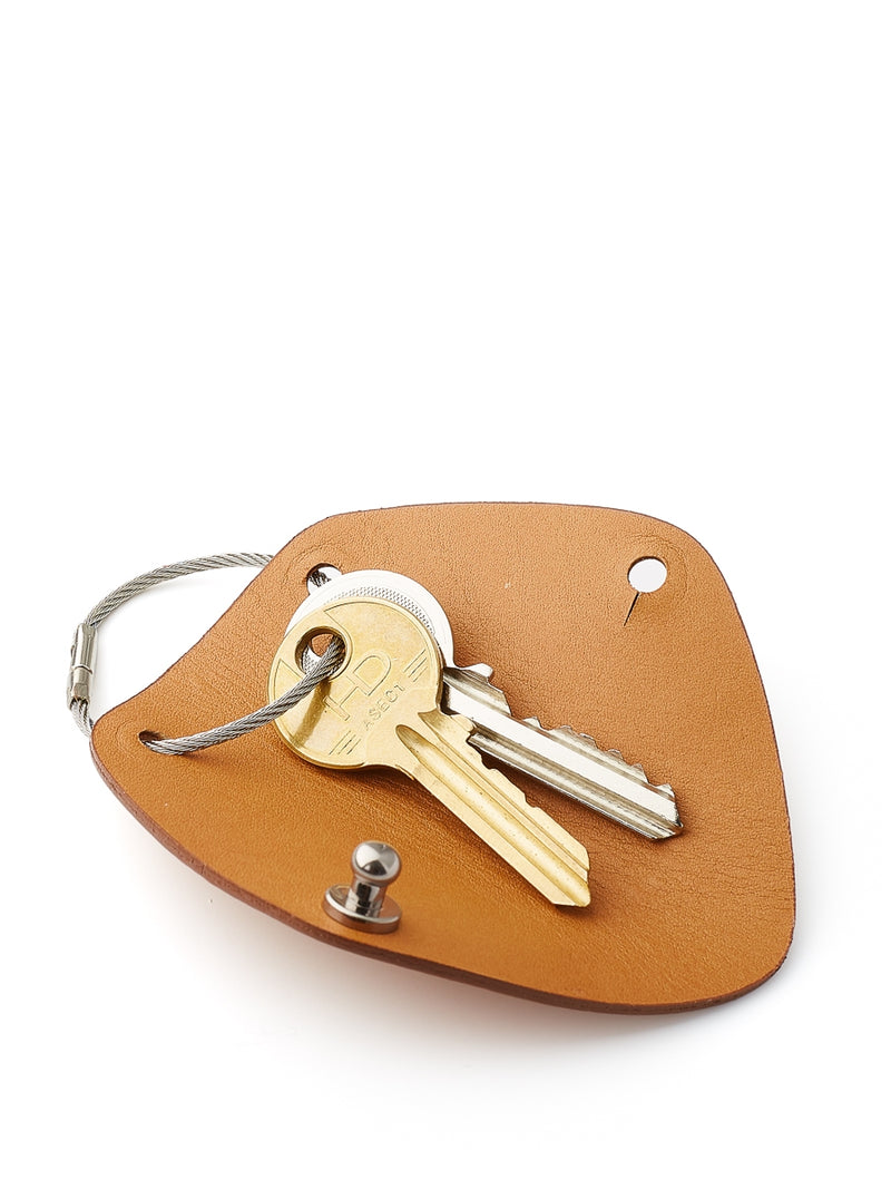 Campbell Cole Tan Leather Simple Key Wrap