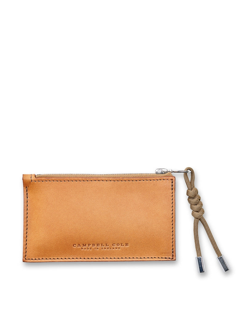 Campbell Cole Tan Leather Simple Coin Pouch