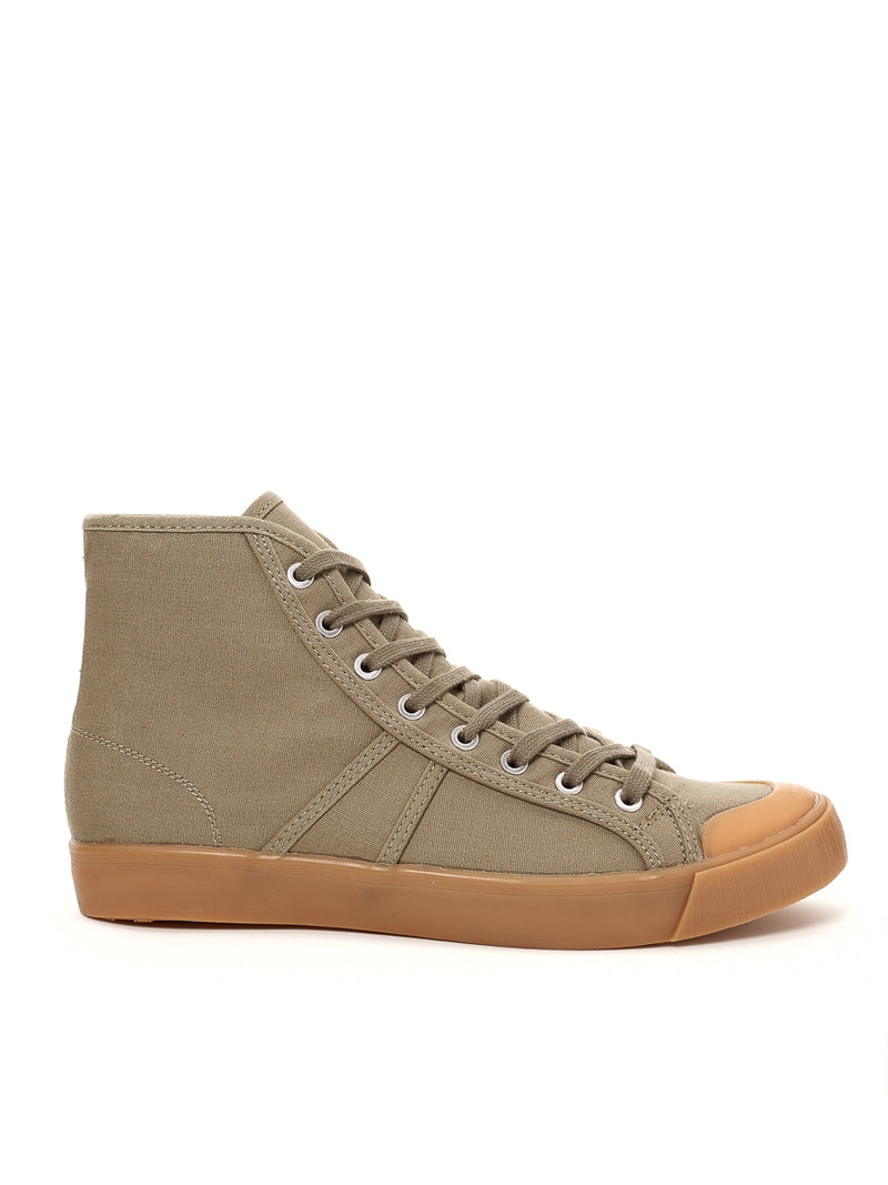 Colchester Rubber Co. Basketball High Top Olive