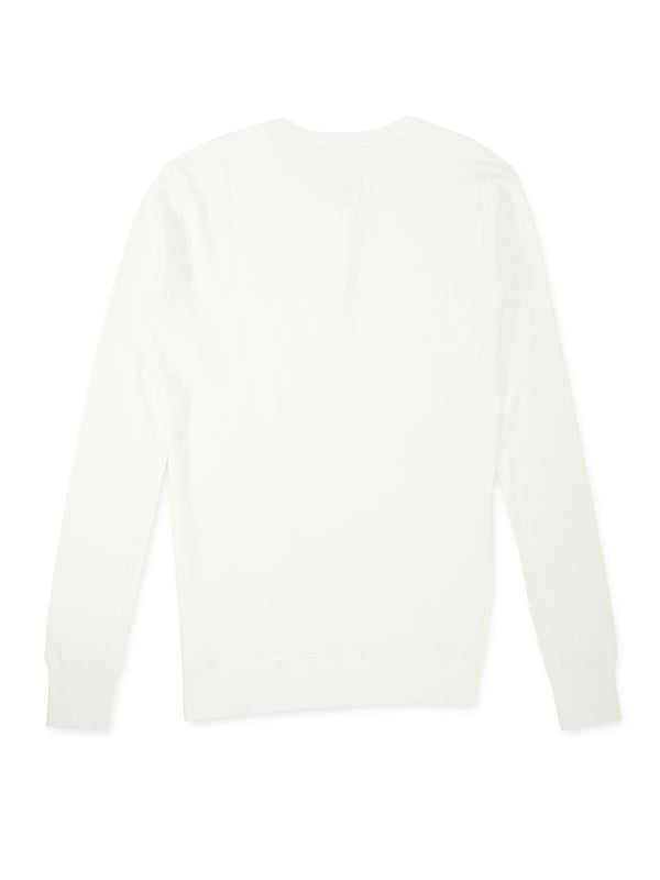 Hemen Harri Henley organic white cotton t-shirt