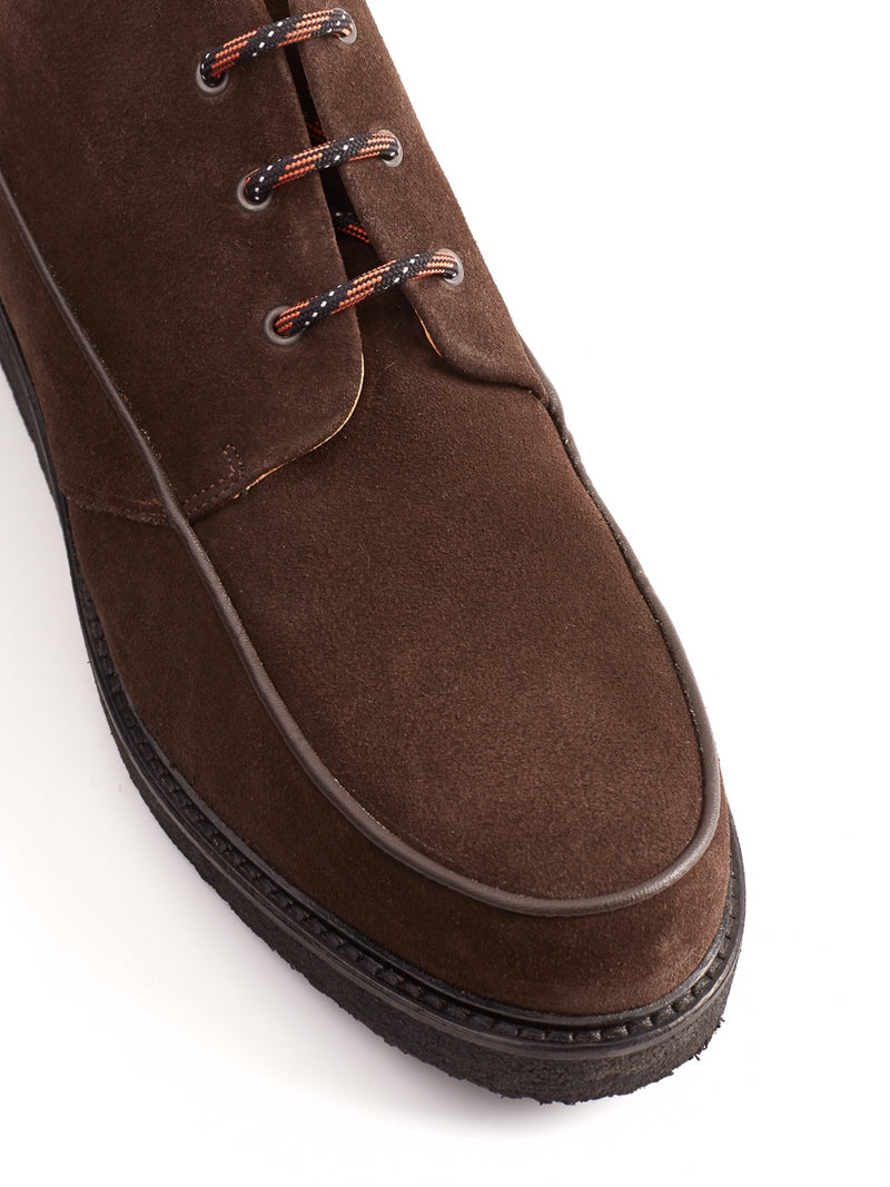 Hoxton Boot Suede Chocolate
