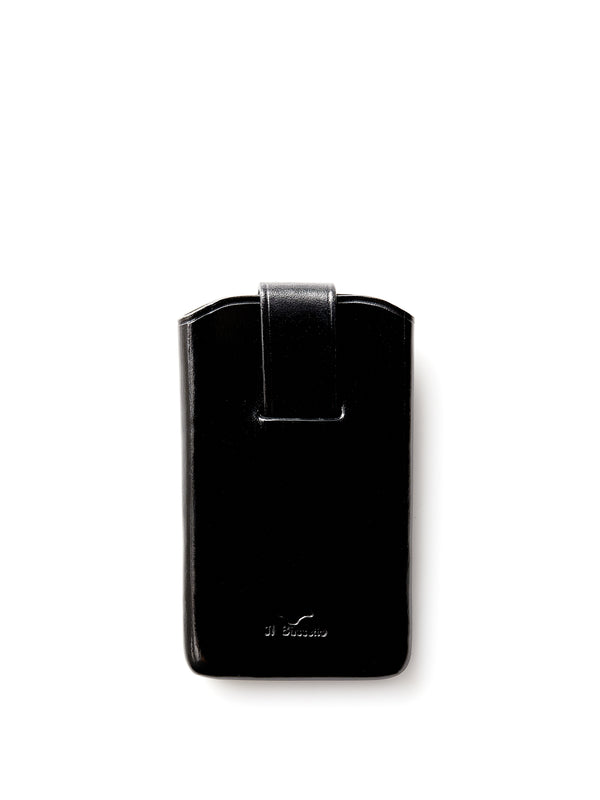Il Bussetto Business Card Holder Sliding Flap Black