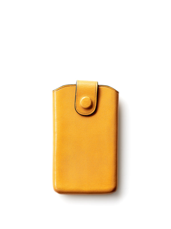Il Bussetto Business Card Holder Sliding Flap Ochre