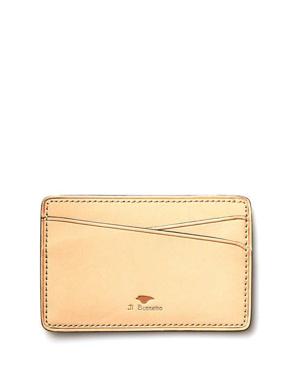 Il Bussetto Ochre Leather Slimline Card Holder