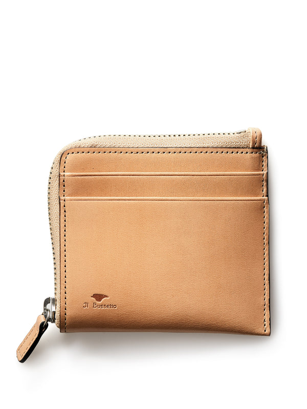 Il Bussetto Corner Zip Wallet Natural Leather