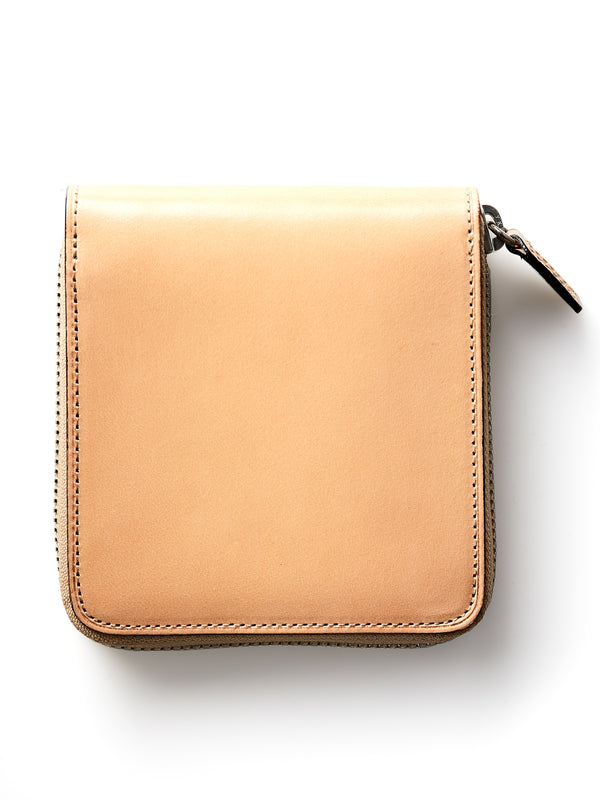 Il Bussetto Bi-Fold Zip Wallet Natural Leather