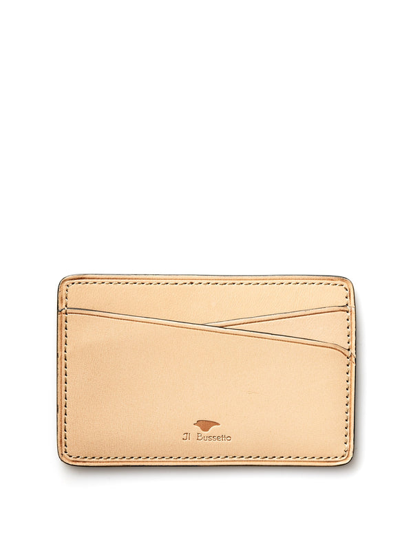 Il Bussetto Natural Leather Slimline Card Holder
