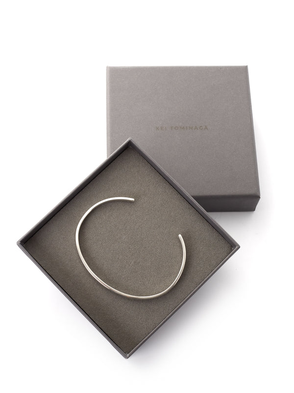 Kei Tominaga Elastic Band Bangle Silver