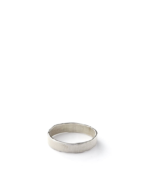 Kei Tominaga Melted Edged Ring Silver
