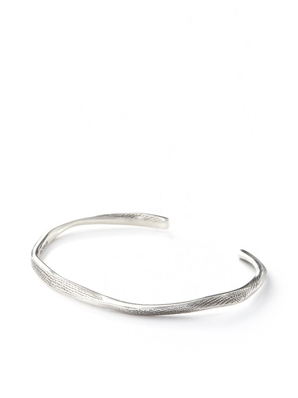 Kei Tominaga Bashed Bangle Silver