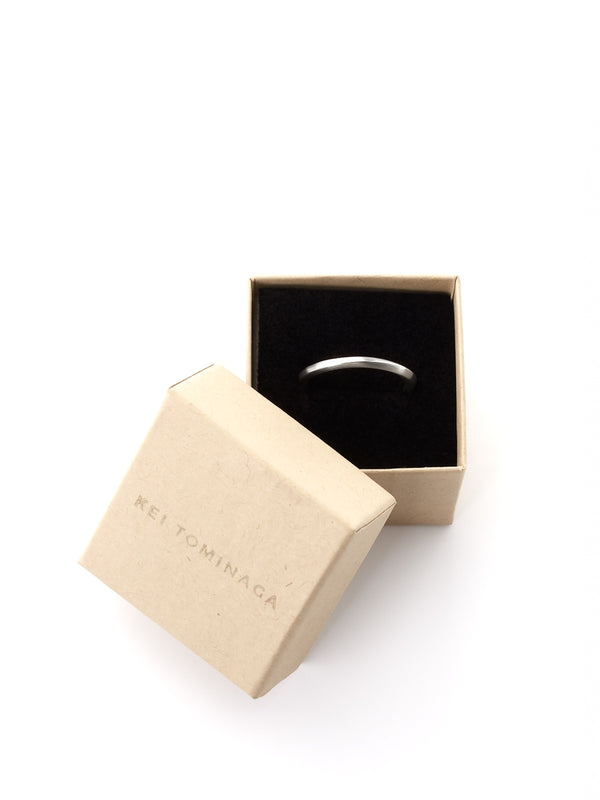 Kei Tominaga Melted Edge Ring Silver
