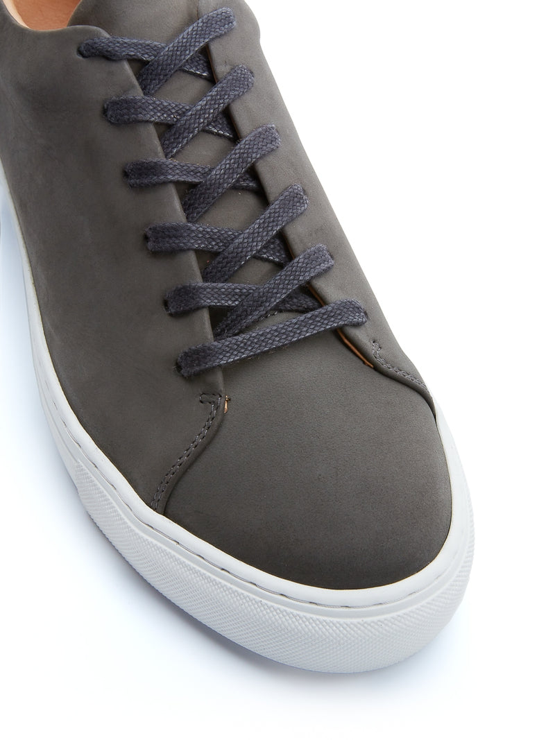 Marton Trainers Grey Nubuck Leather