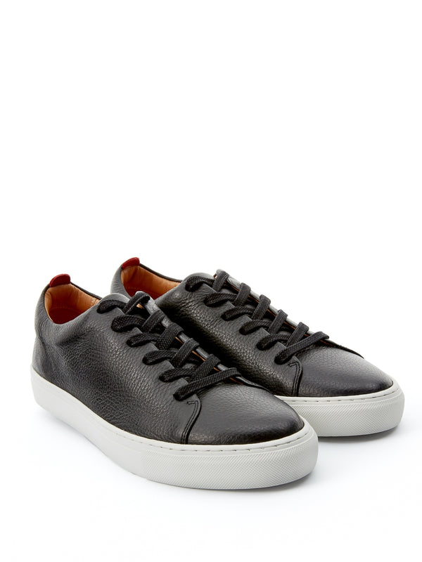 Marton Trainer Pebble Leather Black
