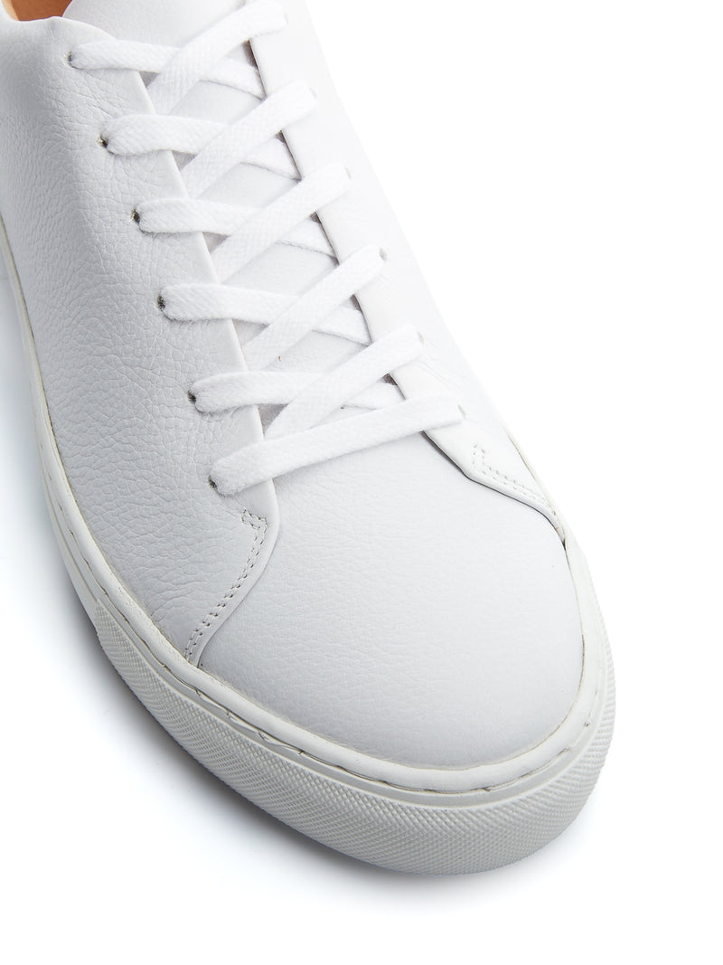 Marton Trainer Pebble Leather White