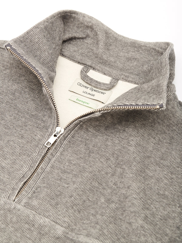 Half Zip Sweat Milner Grey