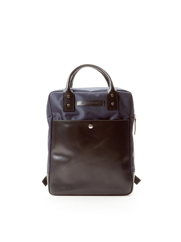 Rucksack Nylon/Leather Navy/Black