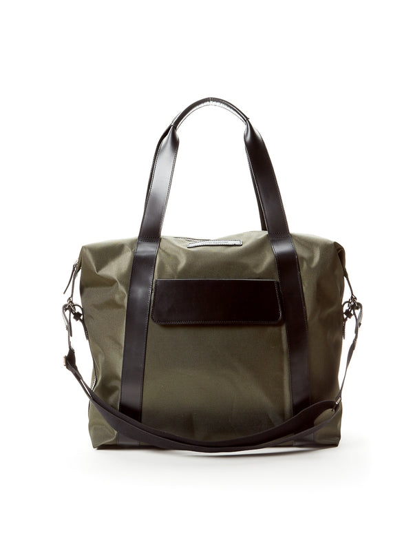 Overnight Bag Nylon/Leather Green/Black