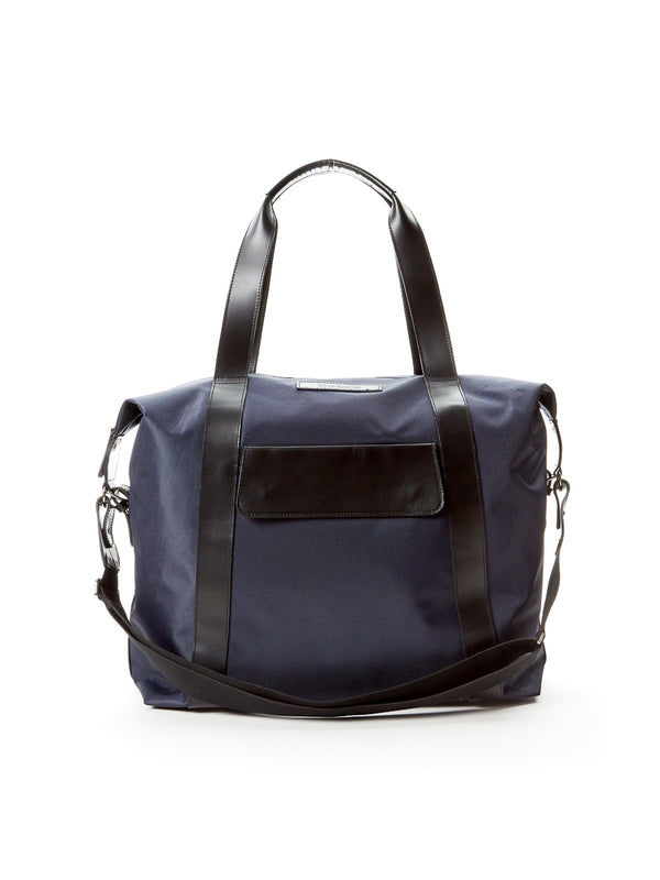 Overnight Bag Nylon/Leather Navy/Black