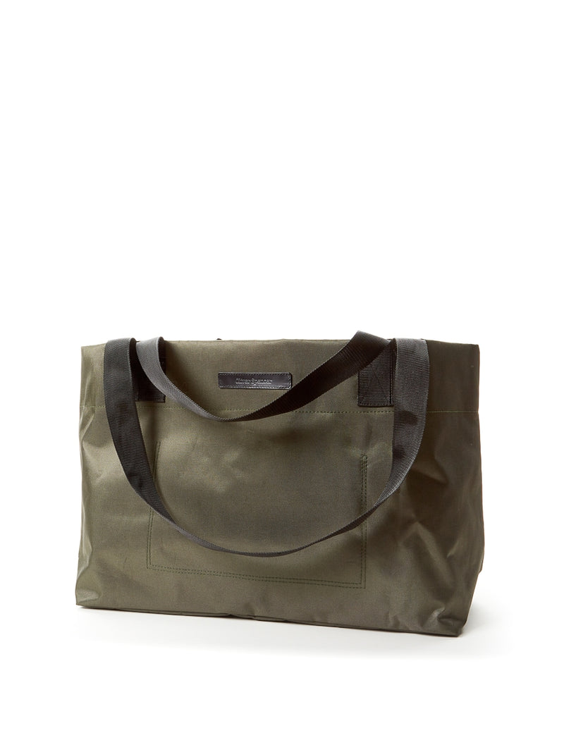 Tote Bag Nylon/Leather Green/Black