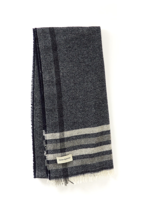 Brim Scarf Sally Grey/Navy