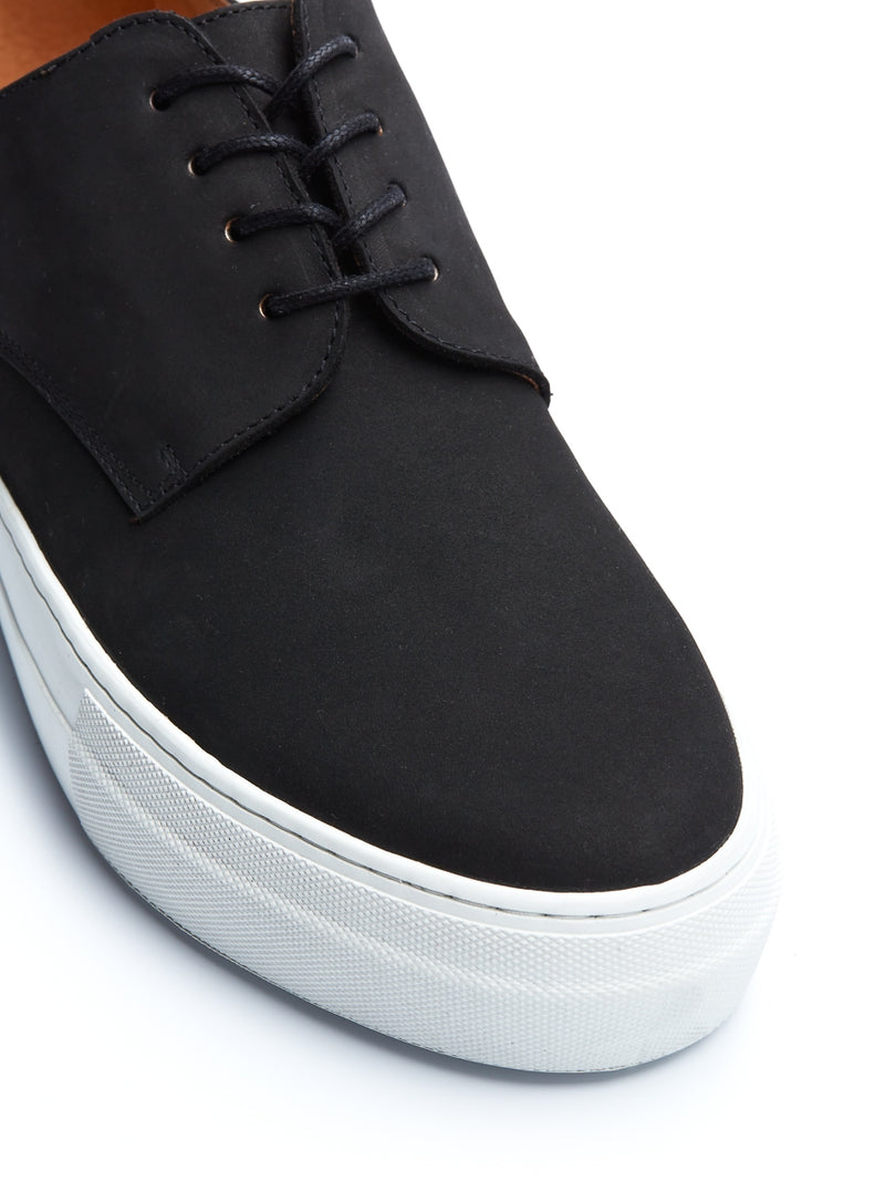 Coventry Shoe Black Nubuck Leather